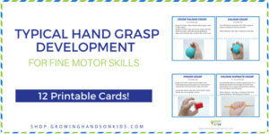 Typical hand grasp development cards