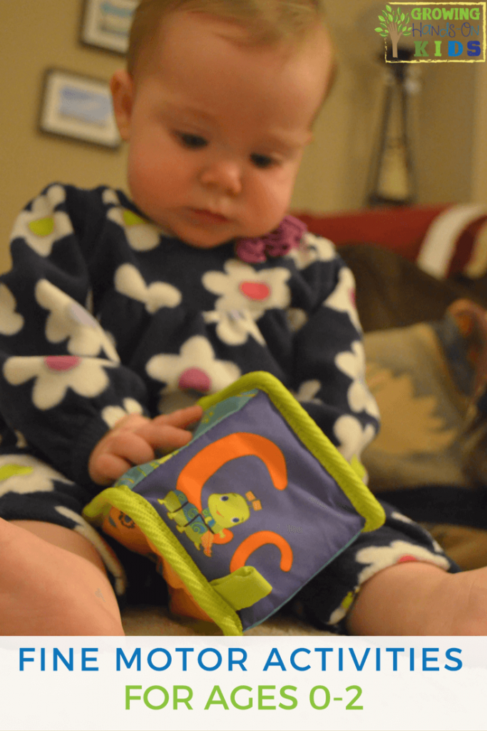 Fine motor activities for babies, ages 0 - 2 years old.