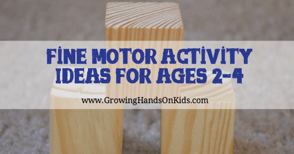 Fine motor activity ideas for 2 4 year olds for Fine motor skills activities for 2 3 year olds