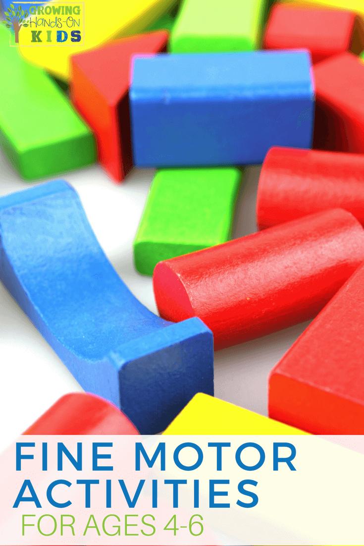 Fine Motor Activities for Ages 4-6, preschooler fine motor development. #FineMotorSkills #FineMotorActivities #PreschoolActivities #KindergartenActivities #FineMotorDevelopment
