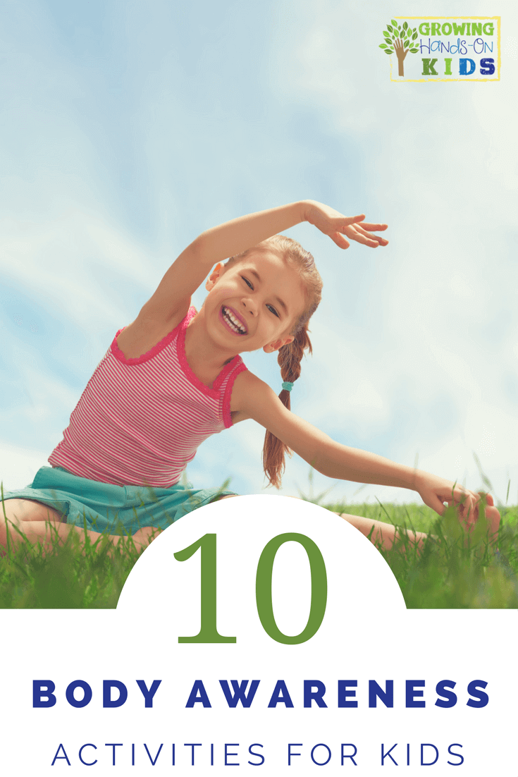 10 body awareness activities for kids, perfect for working on bilateral coordination and crossing midline. #GrossMotorSkills #GrossMotor #OccupationalTherapy #KidsActivities