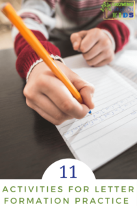 11 activities for letter formation practice at home.