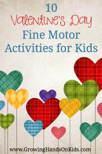 10 Valentine's Day Fine Motor Activities for Kids.