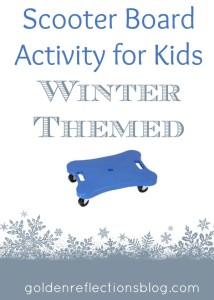 Scooter Board Activities for Kids: Winter Themed