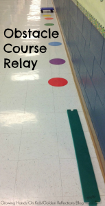 Scooter Board Activity for Kids: Obstacle Course Relay