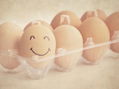 egg smiley face