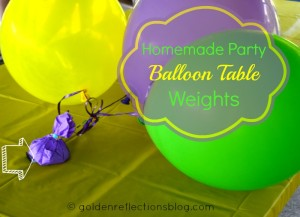 How to make Party Ballon Table Weights | goldenreflectionsblog.com