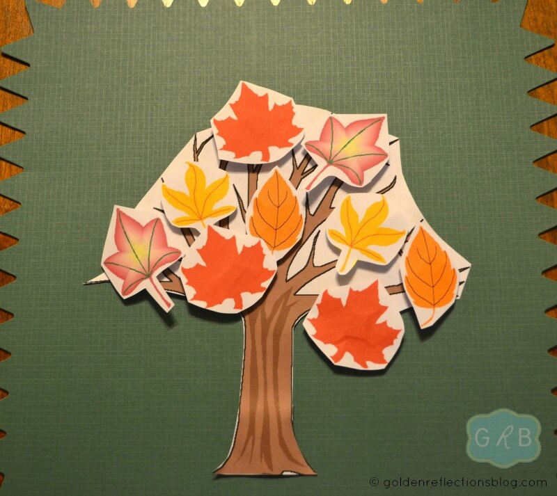 Fall Tree Decorating Craft 4