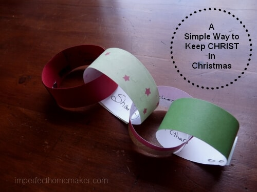 a simply way to keep Christ in Christmas