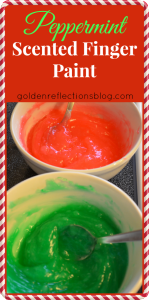 Peppermint Scented Homemade Finger Paint