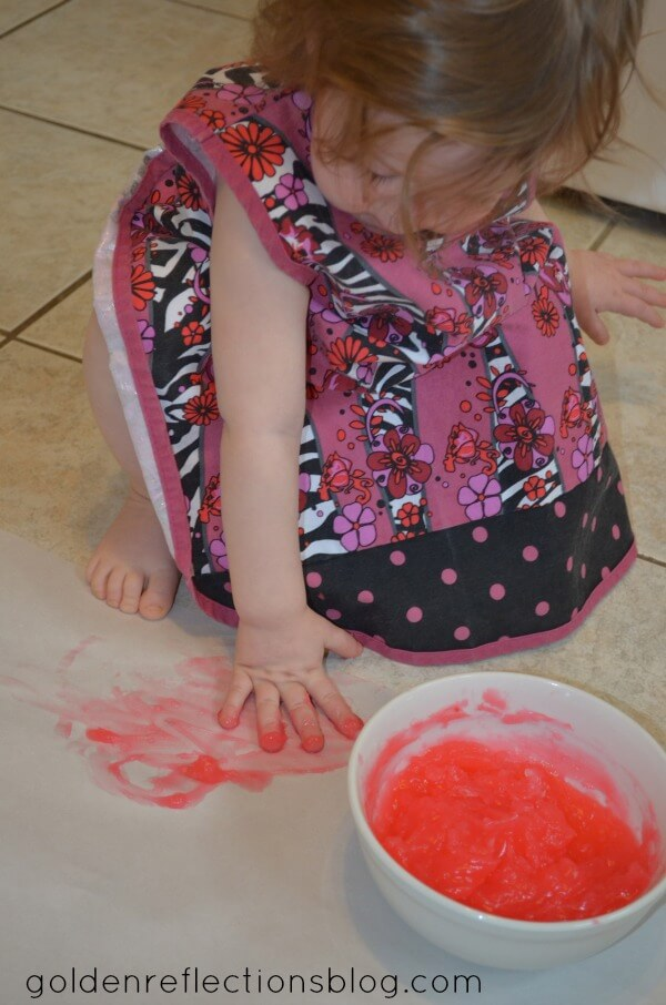 Peppermint Scented Finger Paint