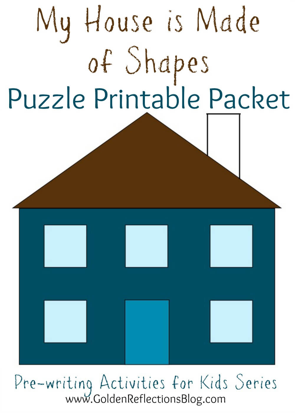 My House is Made Of Shapes Puzzle Printable Packet: Pre-writing ...