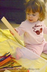 Pre-writing Activities for Kids - Straight Lines Sensory Bin   Golden Reflections Blog