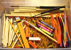 Pre-writing Lines Sensory Bin - Prewriting Activities for Children Series | Golden Reflections Blog