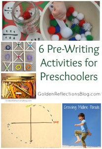 6 Pre-Writing Activities for Kids | www.GoldenReflectionsBlog.com