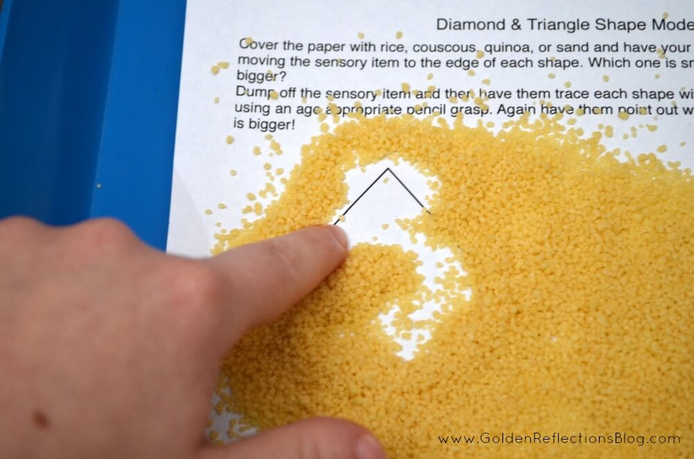 Diamond & Triangle Sensory Tracing Activity