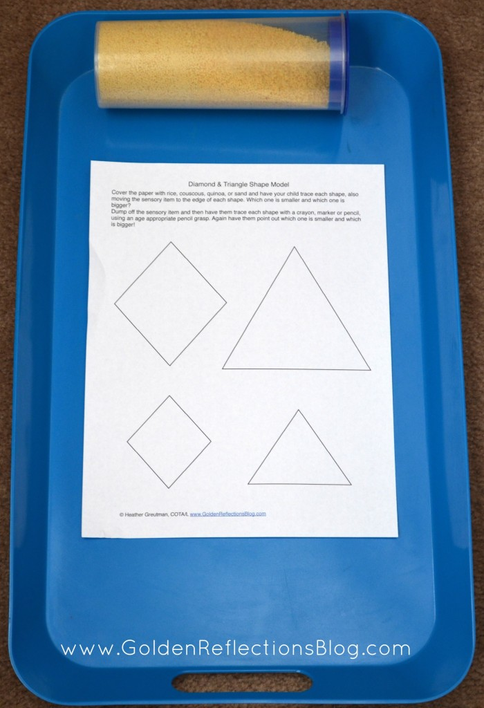 Diamond & Triangle Sensory Tracing - Prewriting Activities for Kids Series