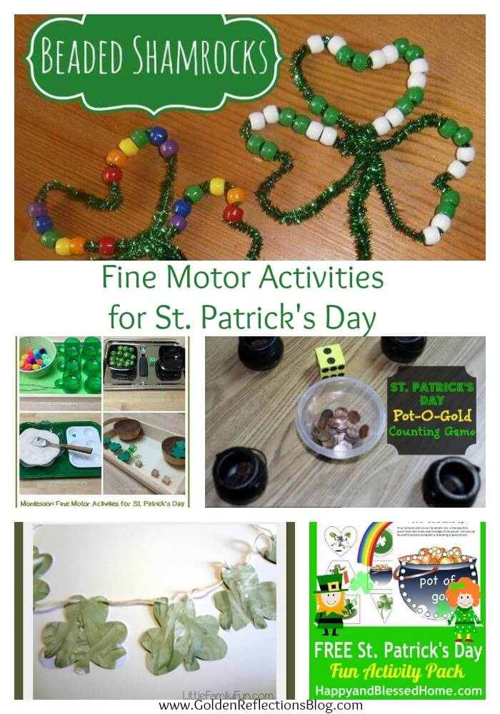 Fine Motor St. Patrick's Day activities for kids