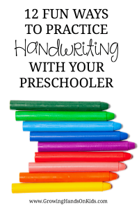 12 fun ways to practice handwriting with your preschooler, hands-on activities for pre-writing practice.