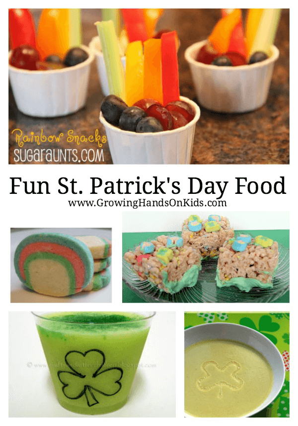Fun food for St. Patrick's Day for kids.