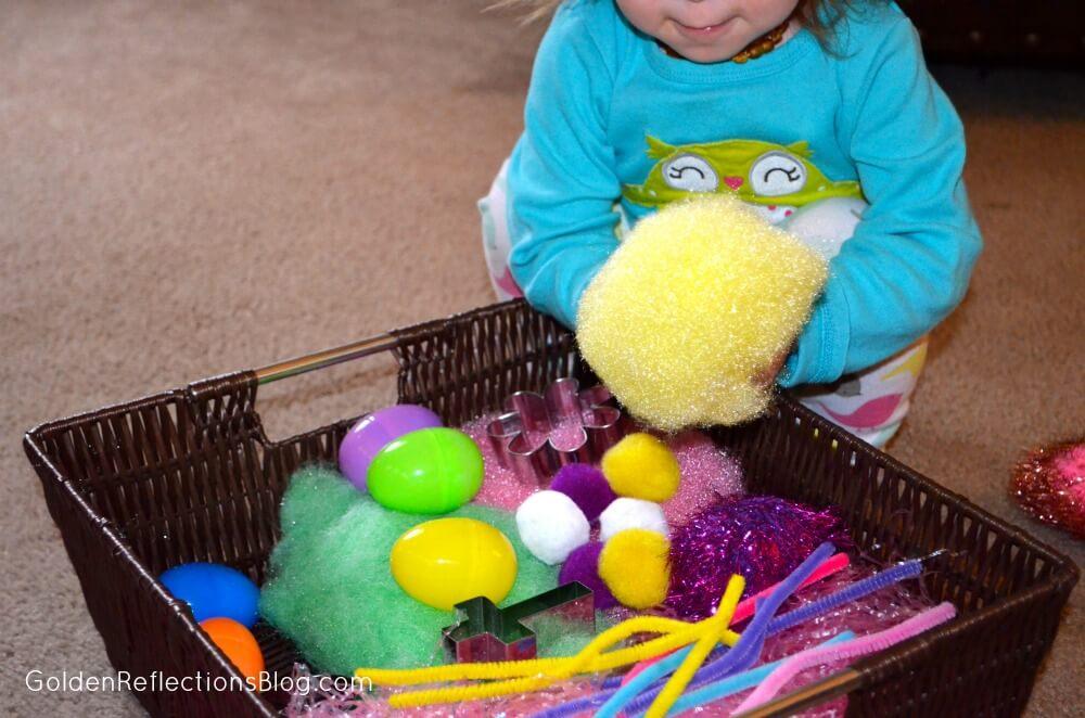 Easter Sensory Bin for Toddlers