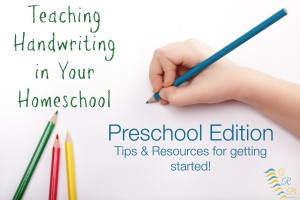 Teaching Handwriting Homeschool Preschool