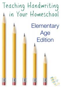 teaching handwriting homeschool elementary