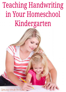 Teaching handwriting in your homeschool kindergarten. Tips and ideas for parents.