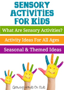 A huge list of sensory activity ideas for children of all ages.