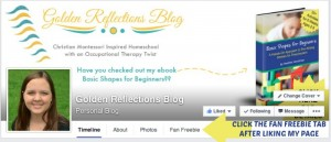 Free for fans of Golden Reflections Blog, a homeschool mom blog on Facebook!