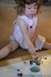 Montessori-Homeschool-For-Toddlers-Star-Pouring-Activity