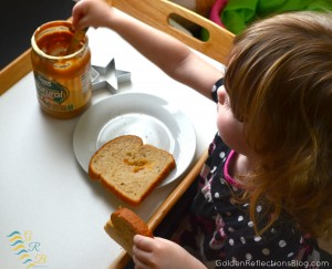 Montessori Homeschool Preschool - Peanut Butter And Jelly Tray