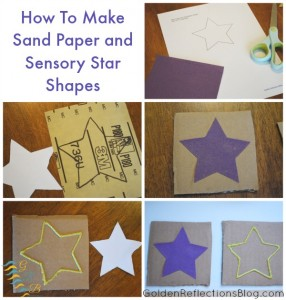 Montessori Homeschool for Toddlers - Sand Paper And Sensory Star Shapes