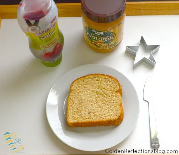 Montessori Homeschool for Toddlers - Star Peanut Butter And Jelly Tray