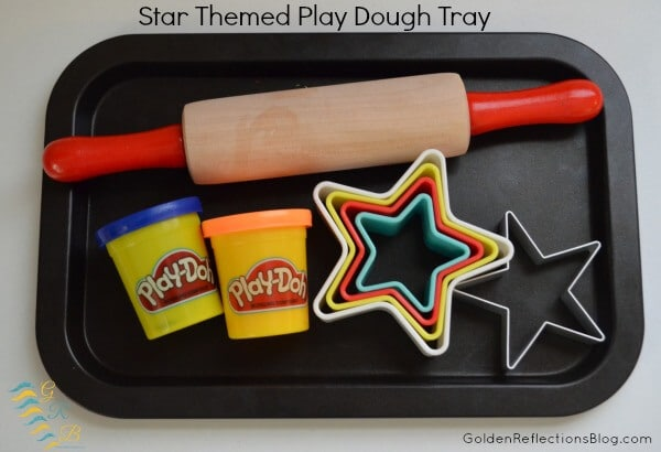 Montessori-Homeschool-for-Toddlers-Star-Themed-Play-Dough-Tray