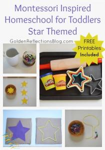 Montessori Homeschool for Toddlers: Star Themed Tot-School Week