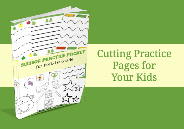 scissor practice pages for preschoolers.