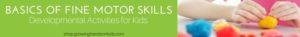 Basics of Fine Motor Skills - Developmental Activities for Kids.