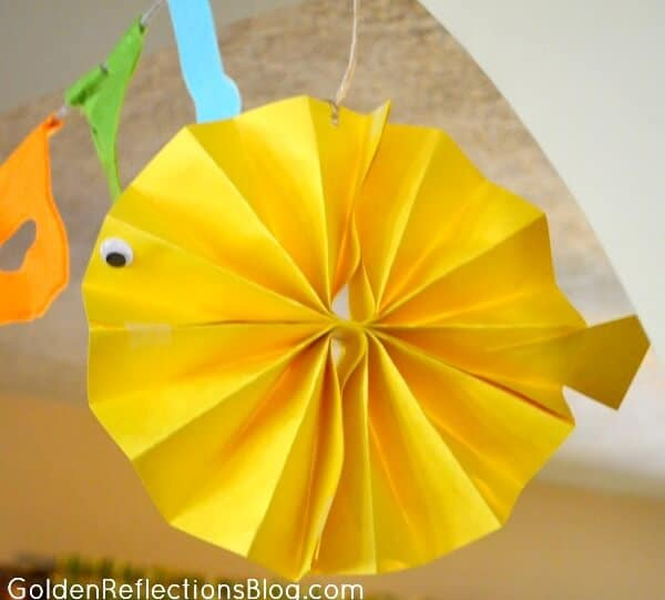Fish Decorations for Fish Themed Birthday Party Ideas - GoldenReflectionsBlog.com