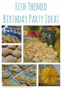 Fish themed birthday party ideas for a 2 year old | www.GoldenReflectionsBlog.com