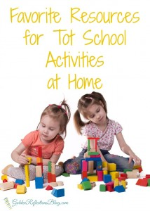 Tips and resources for planning tot school activities at home | www.GoldenReflectionsBlog.com