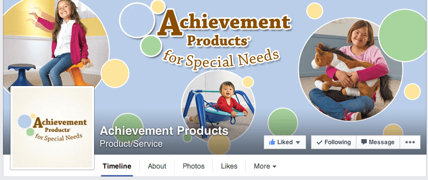 Achievement Products for Special Needs on Facebook.
