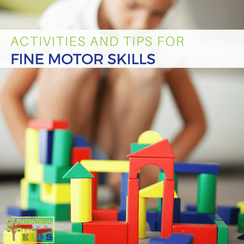 Activities for Fine Motor Skill Development, for kids of all ages.