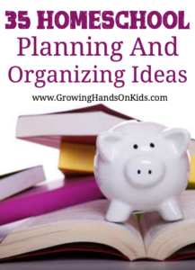 35 ideas for homeschool planning and organizing this year.