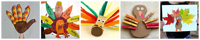 5 fun turkey activities for toddlers ages 18 months to 3 years old. www.GoldenReflectionsBlog.com