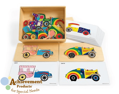 Car Matching Set from Achievement Products for Special Needs. www.GoldenReflectionsBlog.com