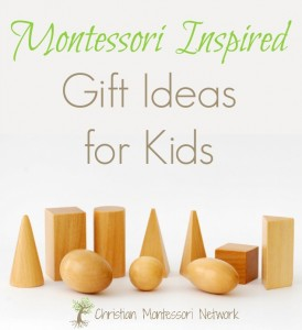 Montessori inspired gift guide for children