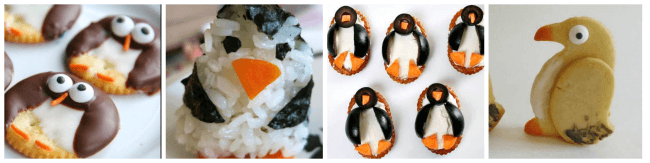 Penguin snack ideas. www.GoldenReflectionsBlog.com
