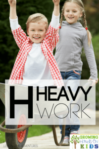 What is heavy work? Learn about some great heavy work ideas for kids.