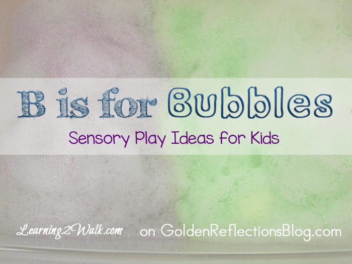 A really fun bubble sensory play ideas for your kids. www.GoldenReflectionsBlog.com